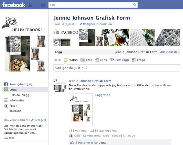 Jennie Johnson Grafisk Form på facebook