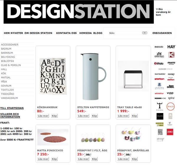 Design Station Skanör webbutik