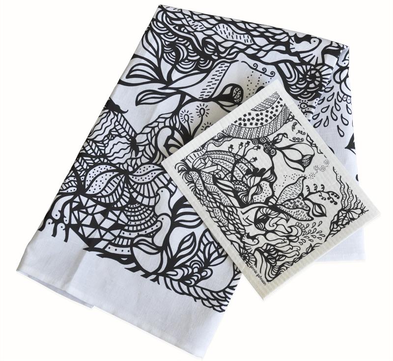 Presentset - disktrasa och handduk