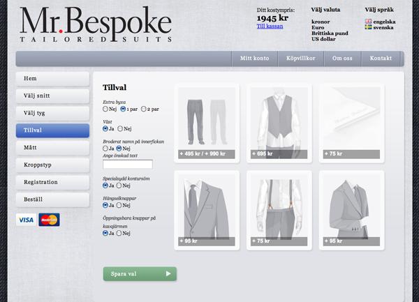 Mr.Bespoke kostymer