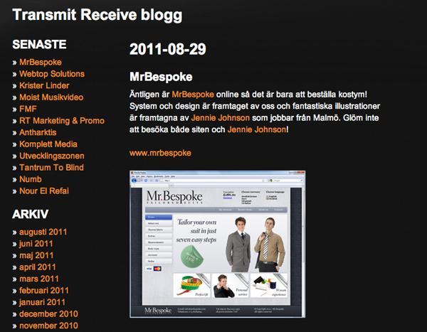 Fint blogginlägg av Transmit Receive